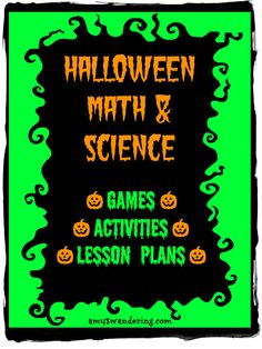 more science lessons science lesson plans lessons plans halloween
