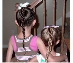 Peinado con trenza y retorcido para niña