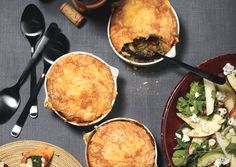 Mushroom and Lentil Pot Pies with Gouda Biscuit Topping - Bon Appétit