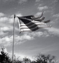 the tattered American flag at the end of the Mcqueen's island trail still flies proudly.