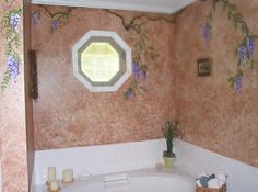 Purple Wisteria Bathroom