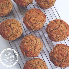 Healthy multigrain banana-pecan muffins (gluten-free, low-sugar, dairy-free, vegan option)