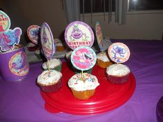 Karla Rodriquez shared these yummy cupcakes from little Emma's birthday! Using our free #diy #birthday kit!! You can get it in our Fan Club here: http://thegigglebellies.com/free/ #GBbirthday