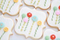 Button bouquet cookies.
