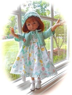 """Diana Effner Little Darlings 13"""" Doll 4 Piece Dress Outfit New 