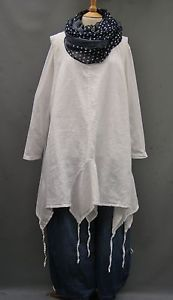 SALE-La-Bass-WHITE-Linen-Asymeterical-pull-tie-Tunic-Sizes-1-3