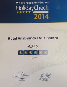 Vilabranca is also recommended on HolidayCheck!