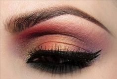 Rust gold eyeshadow