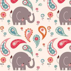 elephant march fabric by endemic for sale on Spoonflower - custom fabric, wallpaper and wall decals