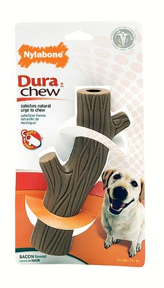DuraChew® Hollow Stick - Bacon | Product Finder | My Pet Is | Large Dog | Nylabone® @Shana Clemente