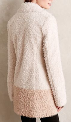 lovely ivory sherpa coat #anthrofave  http://rstyle.me/n/ryk76pdpe