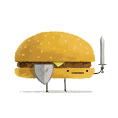 """Burger Knight, because it is almost Friday"" / Illustrator: Andy Helms"