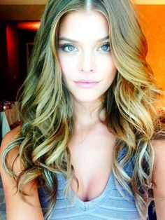 hair colors, nina agdal, makeup, long hair, curls