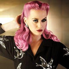 victory rolls, dye, hair colors, vintage hairstyles, kati perri, pin up hairstyles, pastel hair, retro hairstyles, 40s hair