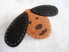 Cute Brown puppy Hair Clip by Margyko on Etsy, $3.00