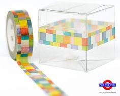 Japanese Washi Tape -  MT Mosaic - 15mm x 10m - Bright multi-color design
