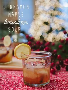 Cinnamon Maple Bourbon Sour | A Holiday Cocktail // www.soletshangout.com