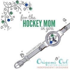 The new Leather Wrap Bracelet from Origami Owl!!! Many colors to choose from and endless ways to customize - hello Hockey Moms