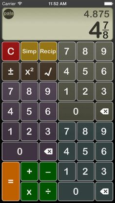 how to add fractions on a financial calculator