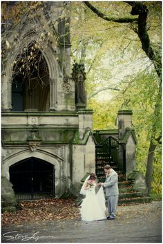 autumn first look - outdoor at spring grove cemetery and arboretum - cincinnati, ohio - wedding photography