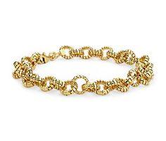 Mini Tubogas Link Bracelet in 14k Yellow Gold  #bluenile