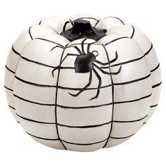 love this black and white pumpkin!