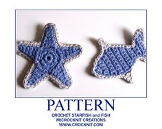 Crochet Star Fish Pattern. I think I'm going to embellish a beach bag with these. I am mad about the beachy colors. Just click the image and it opens up a pdf file. Instant gratification! Another great freebie from Barbara Simmons! Just click on the image at the site and instant pdf! Thanks again, Barbara! ¯\_(ツ)_/¯