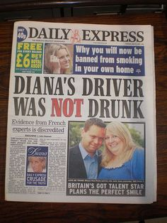 Princess Diana's driver was NOT drunk