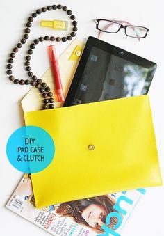 DIY Leather ipad case or clutch