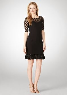 Ivanka Trump little Black dress with dot illusion top.  So lovely.