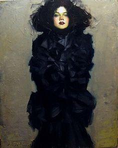 Malcolm Liepke-'Lady in Black'-Telluride Gallery of Fine Art