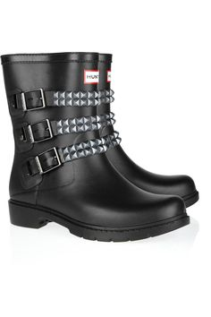 HUNTER  Festival stud-strapped Wellington boots