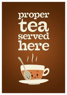 coffe, tea fun, tea time, tea leaf, cuppa, proper tea, prints, tea print, leaf tea