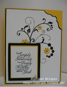 MyDiane Designs: Flowering Trust, Stampin' Up, Flowering Flourishes, Trust God, handmade cards