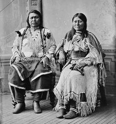 Ute Indians. Chief Ouray and wife Chipeta.