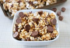 Reese's Peanut Butter Popcorn and 9 other great recipes using leftover Halloween candy. (Though that's not an issue in our house!)