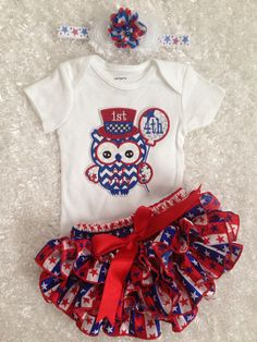 July 4th/First 4th of july/Patriotic/Stars and by BabyTrendzz,