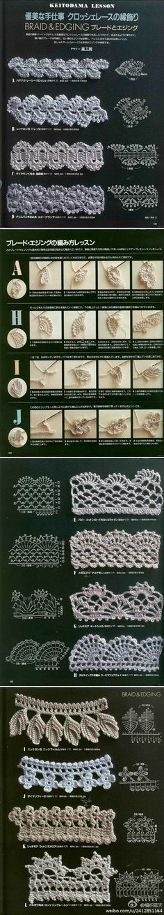 braid and edging.. #inspiration_crochet_diy GB ...