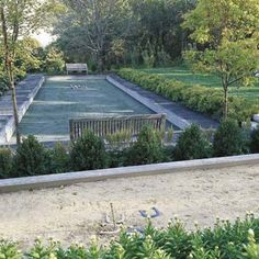 how to build a horseshoe pit, a bocce court, and a croquet lawn
