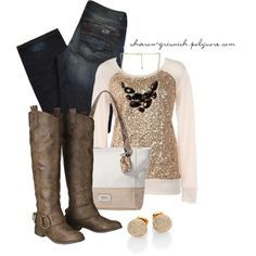 """""""Sequined Softness"""" by sharon-grisnich on Polyvore"""