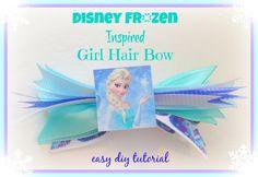 Disney Frozen Inspired Girl HairBows