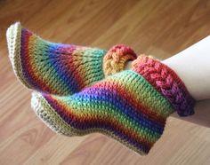 Knit- Look Braid Stitch Boots (Adult Sizes) by Bonita Patterns   Bonita Patterns
