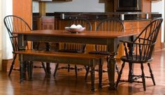 black and cherry dining table