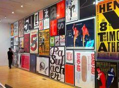 Twitter / pentagram: Paula Scher poster wall ...