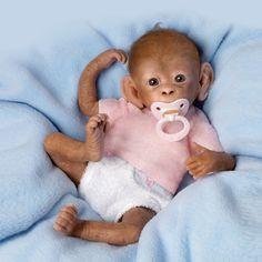 Ashton Drake So Truly Real Baby Coco Baby Monkey Doll Simian Orangutan   eBay