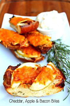Recipe for Cheddar Apple Bacon Bites with Rosemary Dressing   5DollarDinners.com