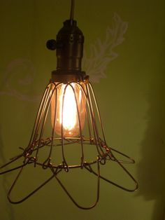 Vintage style trouble light cage lighting swag by southernretromom, $50.00