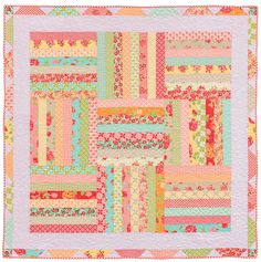 "Perfect for beginning quilters--a strippy picnic quilt! ""Summer Picnic"" by Kate Henderson, from her book Strip Savvy."