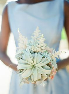 Elegant wedding bouquet with air plants and astilbe | Brides.com