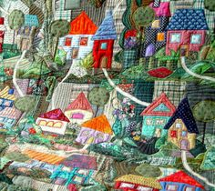 The Textile Cuisine: My village... / Moja wioska... by Bozena Wojtaszek (Poland)